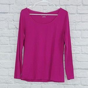 Ann Taylor | Magenta Long Sleeve Tee-Shirt